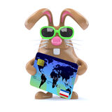 3d Bunny checkout Stock Images