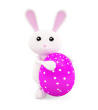 3D Bunny with egg. Illustration of 3D Bunny with egg Royalty Free Stock Photo