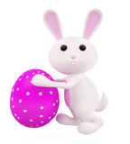 3D Bunny with egg Royalty Free Stock Image