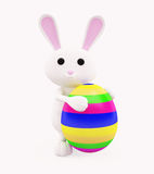 3D Bunny with egg. Illustration of 3D Bunny with egg Royalty Free Stock Photos