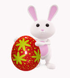 3D Bunny with egg. Illustration of 3D Bunny with egg Stock Photos