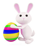 3D Bunny with egg. Illustration of 3D Bunny with egg Royalty Free Stock Image