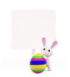 3D Bunny with egg Royalty Free Stock Photos