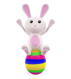 3D Bunny with egg. Illustration of 3D Bunny with egg Stock Image