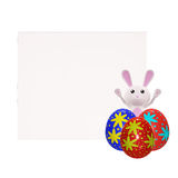 3D Bunny with egg. Illustration of 3D Bunny with egg Stock Photography