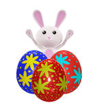 3D Bunny with egg. Illustration of 3D Bunny with egg Stock Images