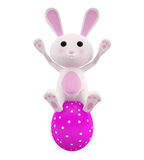 3D Bunny with egg Stock Images