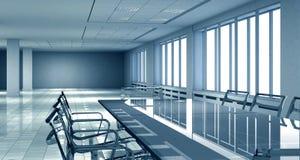 3D bureau binnenlandse ruimte vector illustratie