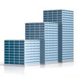 3D bureaugebouwen Stock Afbeelding