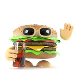 3d Burger party Royalty Free Stock Images