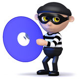 3d Burglar has a dvd Stock Photo