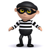 3d Burglar. 3d render of a burglar looking guilty Stock Images