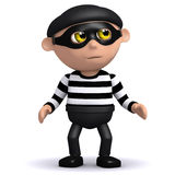 3d Burglar. 3d render of a burglar looking guilty Royalty Free Stock Photos