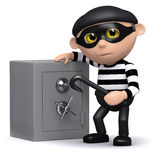 3d Burglar and safe Stock Images