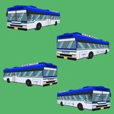 3d the bus driver fare passenger autobus omnibus coach rail bench chair stool armchair seat mattress bolster hassock pad vector il. 3d the bus driver fare vector illustration