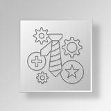 3D Business activity icon Business Concept Stock Photography
