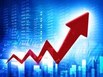 3d business arrow graph royalty free illustration