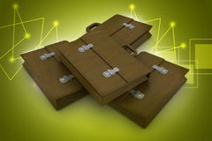 3d business bag Stock Photo