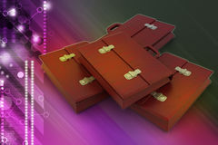 3d business bag Royalty Free Stock Image