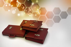 3d business bag Royalty Free Stock Images