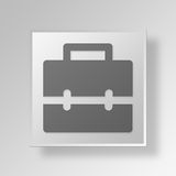 3D business bag icon Business Concept. 3D Symbol Gray Square business bag icon Business Concept Royalty Free Stock Image