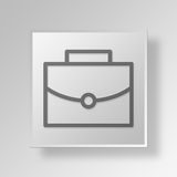 3D business bag icon Business Concept. 3D Symbol Gray Square business bag icon Business Concept Stock Photography