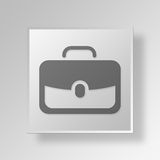 3D business bag icon Business Concept. 3D Symbol Gray Square business bag icon Business Concept Royalty Free Stock Photo