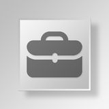 3D business bag icon Business Concept. 3D Symbol Gray Square business bag icon Business Concept Stock Images