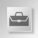 3D Business Briefcase icon Business Concept. 3D Symbol Gray Square Business Briefcase icon Business Concept Stock Photos