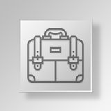 3D Business Briefcase icon Business Concept. 3D Symbol Gray Square Business Briefcase icon Business Concept Stock Image