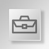 3D Business Briefcase icon Business Concept. 3D Symbol Gray Square Business Briefcase icon Business Concept Royalty Free Stock Photography