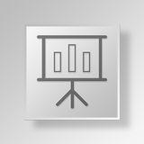 3D business chart icon Business Concept. 3D Symbol Gray Square business chart icon Business Concept Royalty Free Stock Images