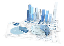 3D business charts Royalty Free Stock Image