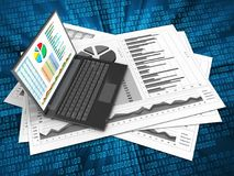 3d business charts Stock Images