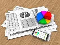 3d business charts Stock Image