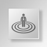 3D Business Circle icon Business Concept. 3D Symbol Gray Square Business Circle icon Business Concept Royalty Free Stock Images