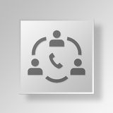 3D Business communication icon Business Concept. 3D Symbol Gray Square Business communication icon Business Concept Royalty Free Stock Photo