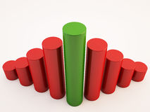 3d business concept in bar form. 3D business info graphic cylinder bar Stock Photos