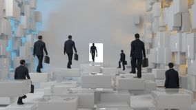 3D business concept. 3D illustration Royalty Free Stock Image