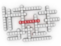 3d Business Concept word cloud.  Royalty Free Stock Photos