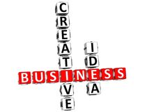 3D Business Creative Idea Crossword. On white background Royalty Free Stock Images