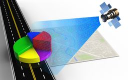 3d business data. 3d illustration of bright map with business data and Royalty Free Stock Photo