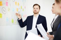 3d business dimensional presentation render shape three Arkivfoto