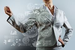 3d business dimensional presentation render shape three Royaltyfria Bilder