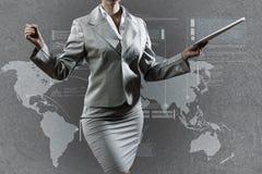 3d business dimensional presentation render shape three Royaltyfri Fotografi