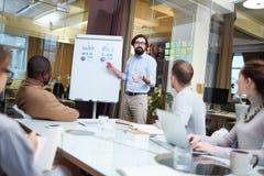 3d business dimensional presentation render shape three Arkivfoton