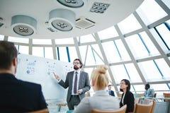 3d business dimensional presentation render shape three Fotografering för Bildbyråer
