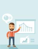 3d business dimensional presentation render shape three Royaltyfri Bild