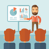 3d business dimensional presentation render shape three Arkivbild