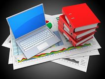 3d business documents Royalty Free Stock Photo